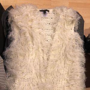 BCBG furry vest